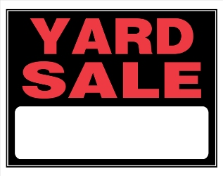 where to buy yard sale signs