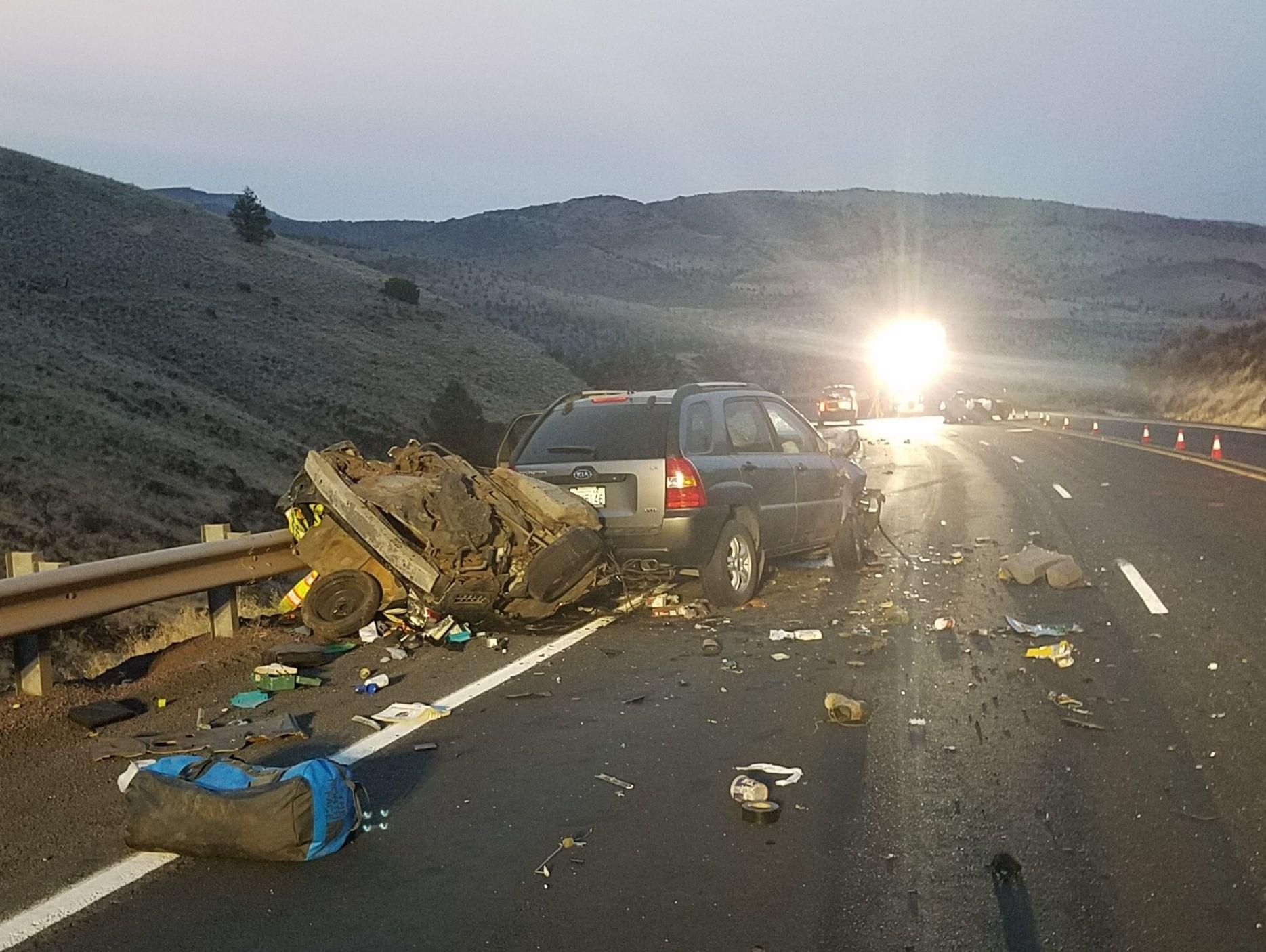 One adult, two juveniles killed in crash on Hwy 97