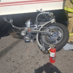 Motorcyclist killed after attempting to pass semi with two trailers