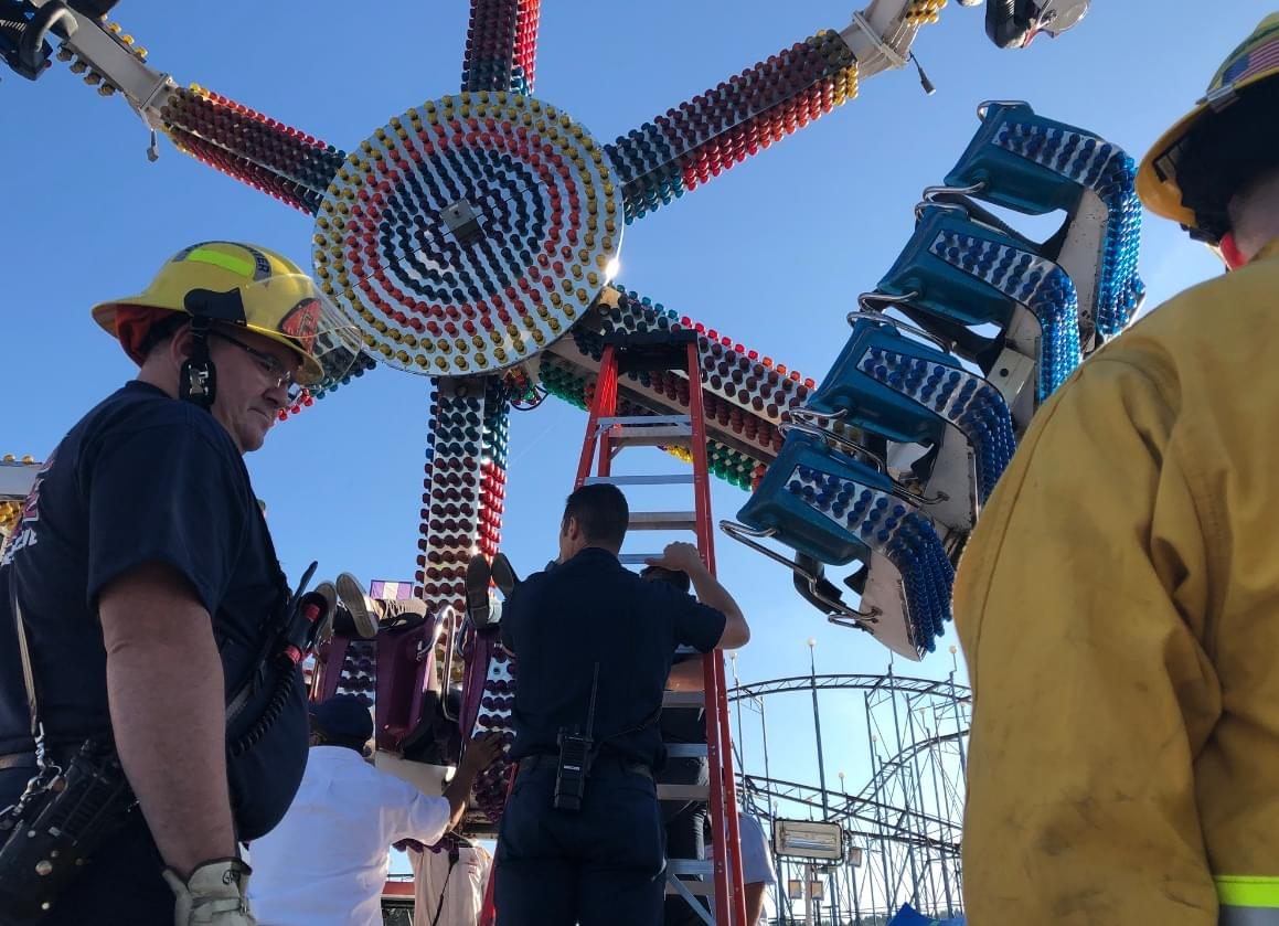 19 rescued from malfunctioning ride at WA State Fair