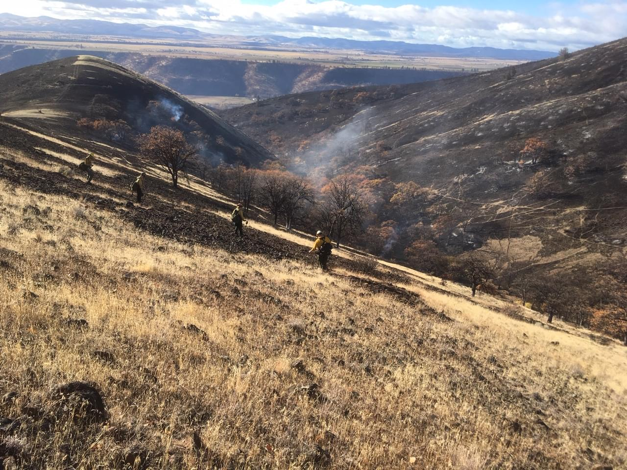 Spread of wind driven fire near Tygh Valley stopped