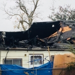 Family displaced by fire