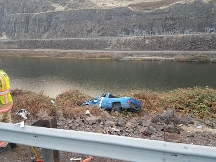 Single vehicle fatal crash on Interstate 84 east of The Dalles