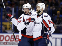Surging Capitals cruise to 7-3 win over Blues