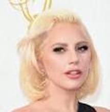 Lady Gaga with a tribute