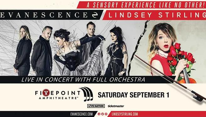 Evanescence + Lindsey Stirling at the FivePoint Amphitheatre
