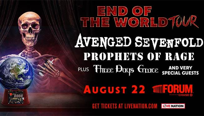 End Of The World Tour: Avenged Sevenfold With Prophets Of Rage