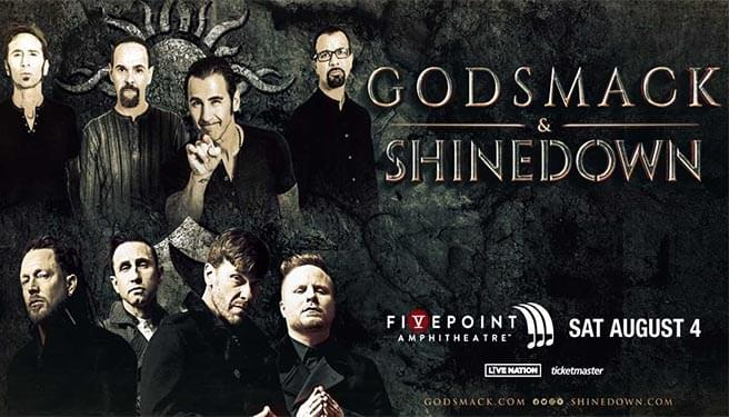 Godsmack & Shinedown at the FivePoint Amphitheatre