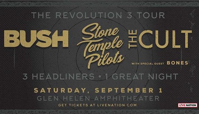 Stone Temple Pilots, Bush, and The Cult at Glen Helen Amphitheater