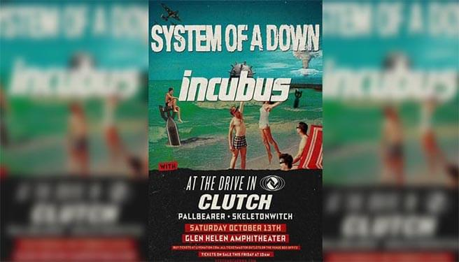 System Of A Down & Incubus at Glen Helen Amphitheater