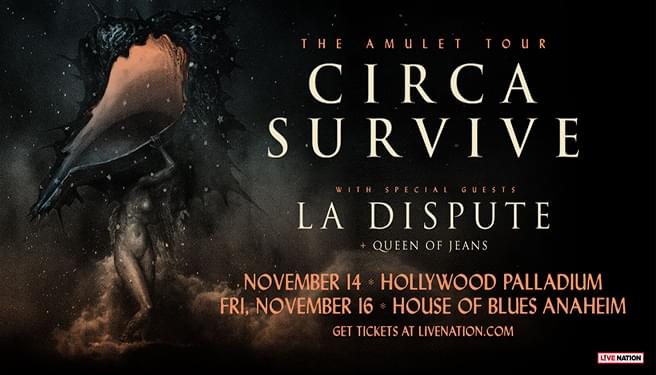 Circa Survive November 16th at The House Of Blues Anaheim