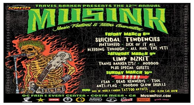 MusInk March 8th Thru March 10th