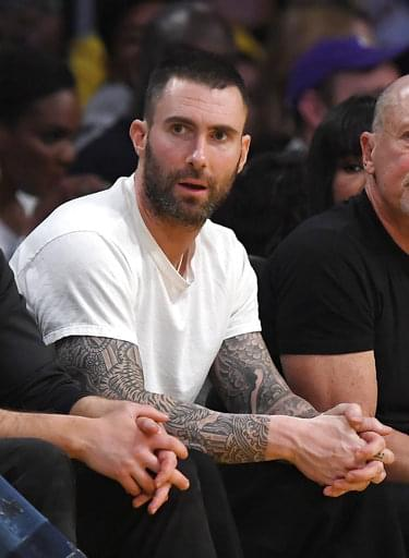 Adam Levine's 40th Birthday Fun Continues w/ Some BBall! Check out his moves!