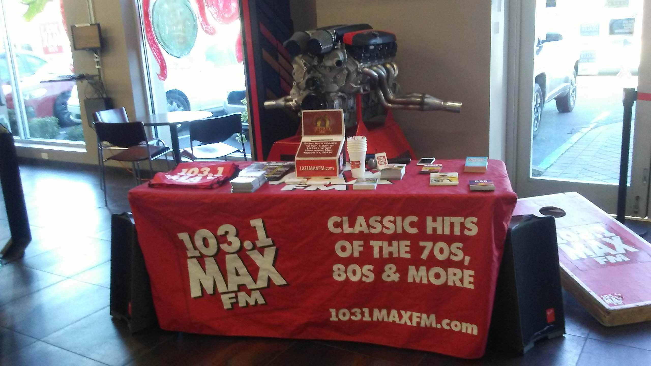 103.1 MAX FM at Security CDJR
