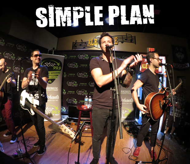 Star 99.9 Michaels Jewelers Acoustic Session: Simple Plan
