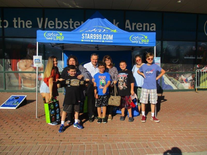 WWE at the Webster Bank Arena on 7/8/18