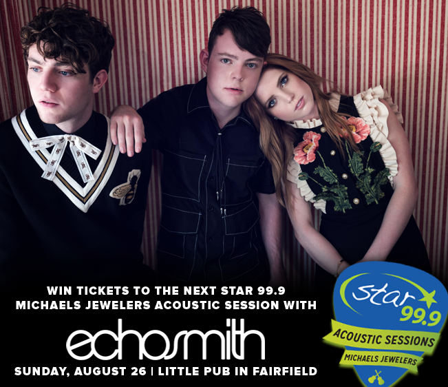 Enter to win tickets to the Star 99.9 Michaels Jewelers Acoustic Session with Echosmith!