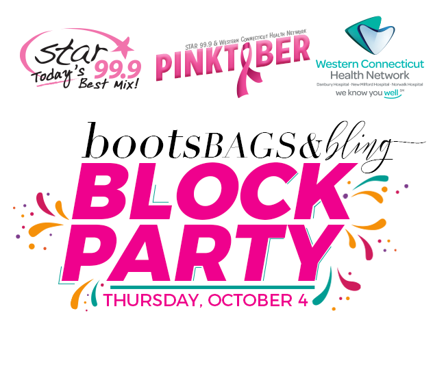 Star 99.9 Western Connecticut Health Network Pinktober's Boots, Bags, & Bling Block Party
