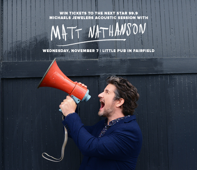 Win tickets to Star 99.9 Michaels Jewelers Acoustic Session with Matt Nathanson