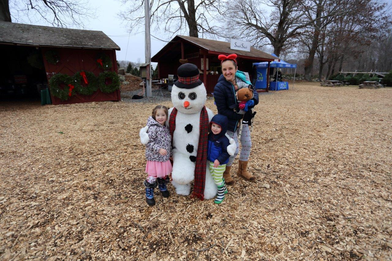 Maple Row Tree Farm with Christmas Characters