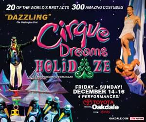 Win a SUITE at Cirque Dreams Holidaze at the Toyota Oakdale Theatre this weekend!