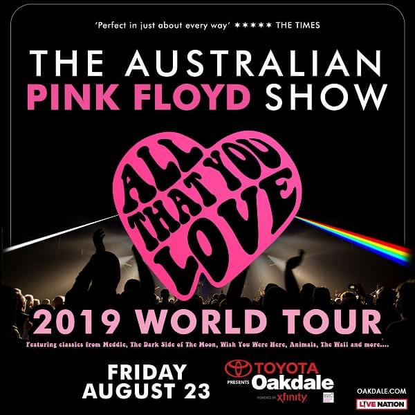 """Win tickets to The Australian Pink Floyd Show """"All That You Love"""