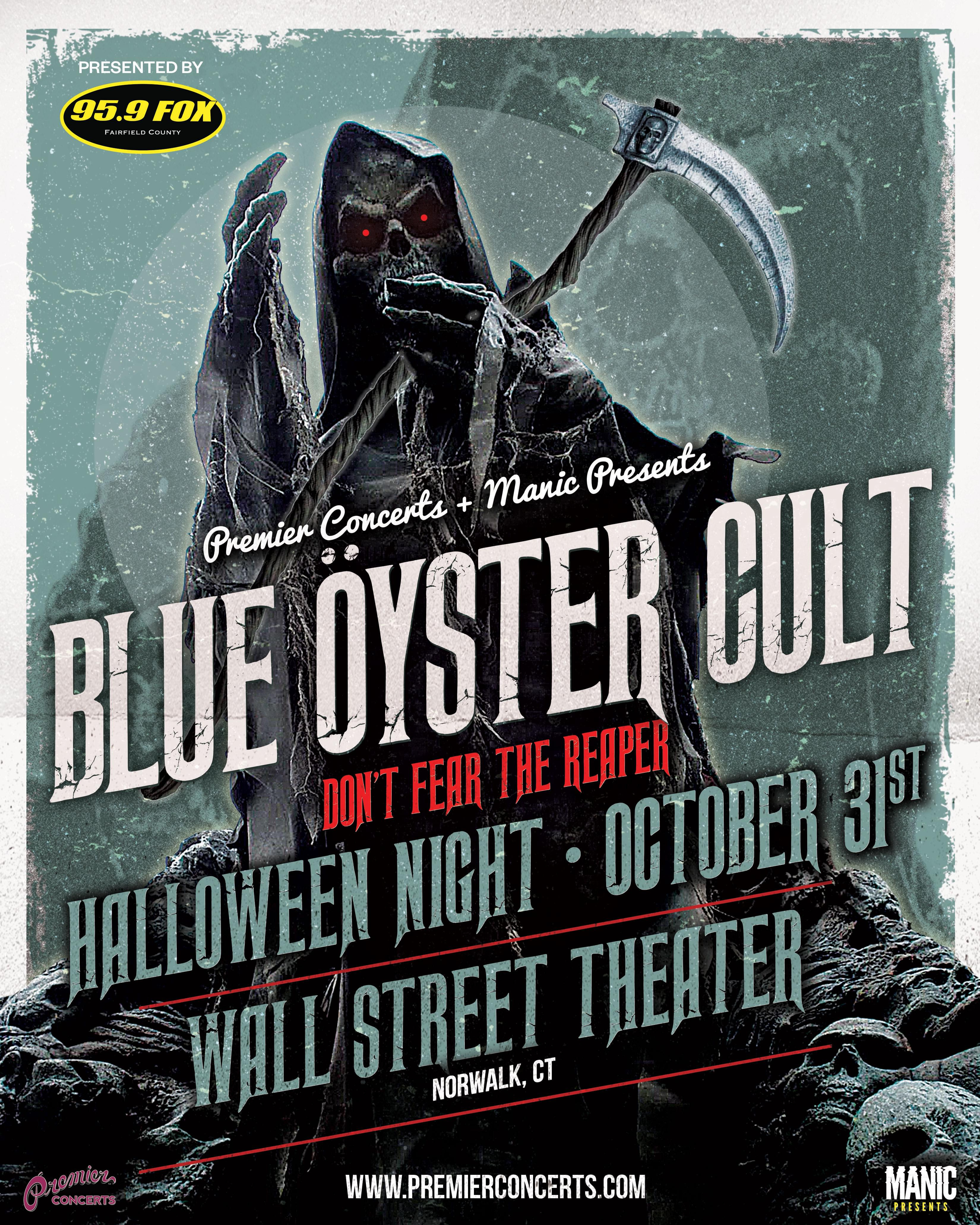 95.9 THE FOX presents Blue Öyster Cult: Don't Fear The Reaper