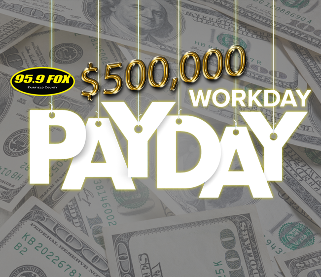 95.9 The FOX $500,000 Workday Payday