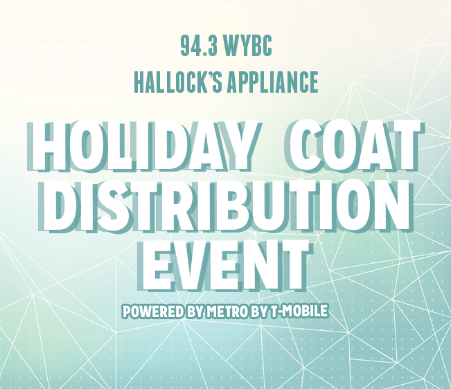 WYBC Hallock's Appliance Holiday Coat Distribution Event