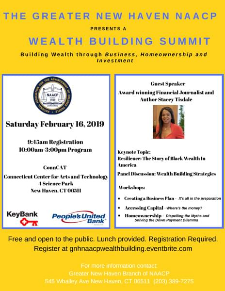 New Haven NAACP: Wealth Building Summit