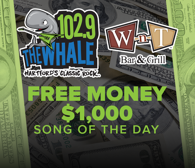 102.9 The Whale Wood-n-Tap Free Money $1,000 Song of the Day