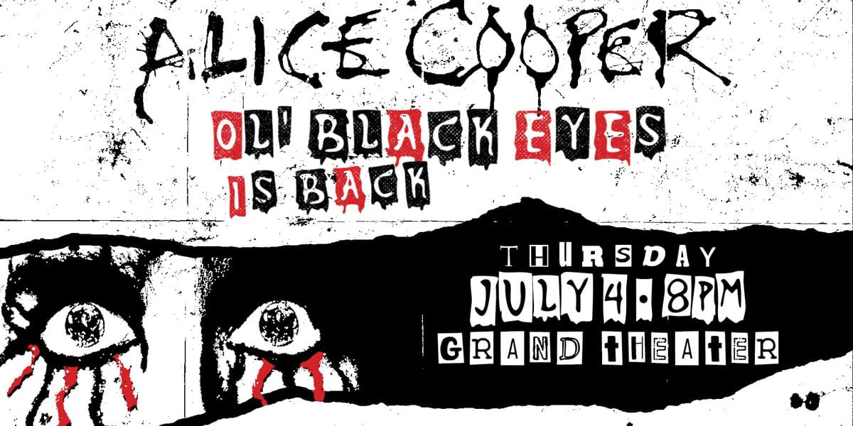 Win Tickets to Alice Cooper with Eddie Sab