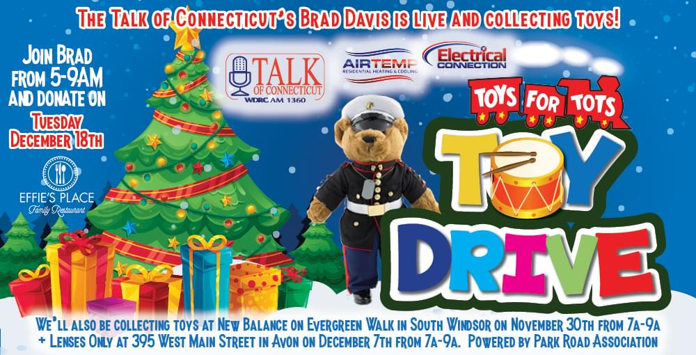 Talk of Connecticut Air Temp and Electrical Connection Toys for Tots Toy Drive