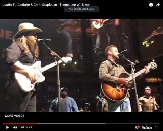 Justin Timberlake Joined By Chris Stapleton In Nashville