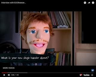 Ed Sheeran Puppet Gives Interviews Now
