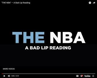Bad Lip Reading: NBA