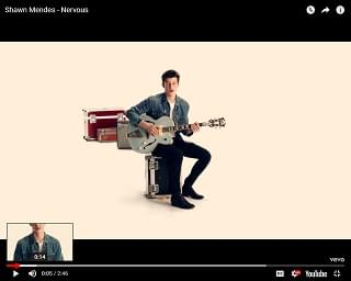 "Shawn Mendes Drops ""Nervous"" Video"