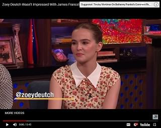 Zoey Deutch: James Franco Isn't A Good Kisser