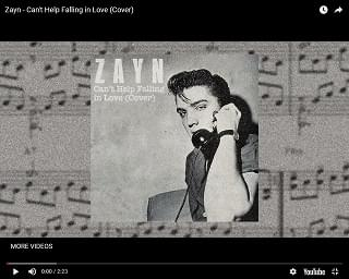 Zayn Malik Covers Elvis Presley