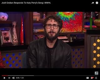 Josh Groban Reacts To Katy Perry Writing Song About Him