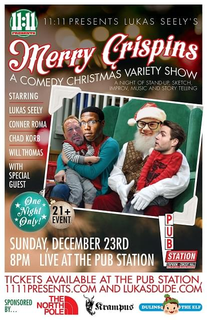 """Lukas Seely's """"Merry Crispins"""" – A Comedy Christmas Variety Show"""