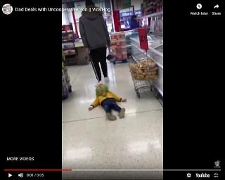 Viral Video of the Day: The Dad Way To Deal With An Uncooperative Child