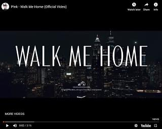 """Pink Dances With Shadows In New """"Walk Me Home"""" Video"""
