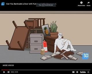 Viral Video: Can You Barricade a Door with Furniture?