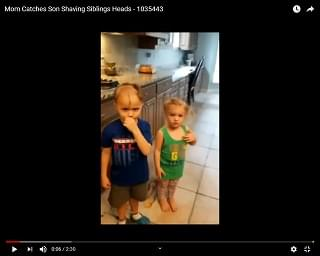 Viral Video: Mom Catches Son Shaving Siblings' Head
