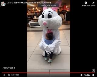 Viral Video: Little Girl Loves Meeting Easter Bunny