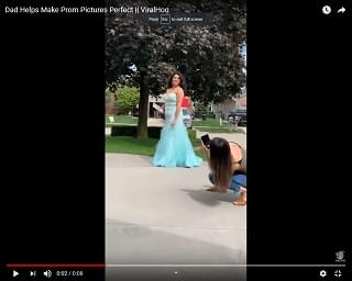 Viral Video of the Day: Dad Makes Prom Pictures Perfect