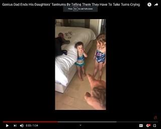 Viral Video: Dad Ends Daughter's Tantrum Creatively