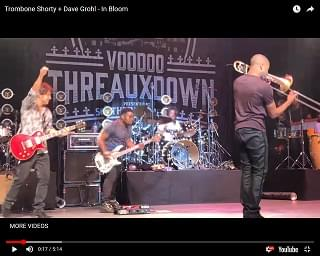 "Dave Grohl Plays Nirvana's ""In Bloom"" With Trombone Shorty"
