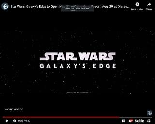 Disney Announces Opening Dates For Star Wars Galaxy Edge